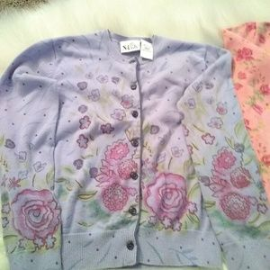 N-Kids Shirts & Tops - N-Kids little girls sweaters pink & lavender sz M